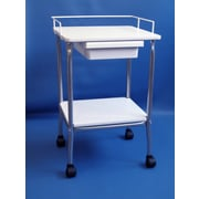 Brandt Industries Stand w/ wire frame and drawer; White