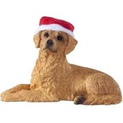 Sandicast Lying Retriever Christmas Christmas Ornament