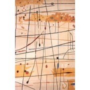 Momeni New Wave Beige Area Rug; 8' x 11'