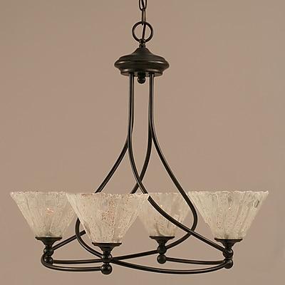 Toltec Lighting Capri 4-Light Shaded Chandelier