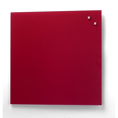 Better Houseware Magnetic Glass Board, 13.75'' H x 13.75'' W; Red