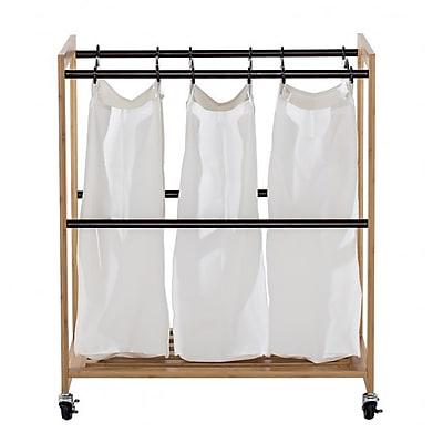 Trinity EcoStorage 3 Bag Laundry Sorter; Bronze