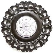 Fetco Home Decor Spada 24'' Wall Clock; Espresso
