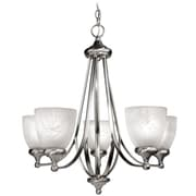 Woodbridge Kenshaw 5-Light Shaded Chandelier; Satin Nickel