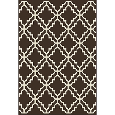 Home Dynamix Reaction Abstract Brown Area Rug; 1'11'' x 3'3''