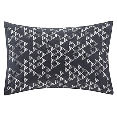 Ink + Ivy Thea Embroidered Cotton Lumbar Pillow