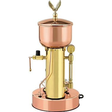 Elektra Microcasa Semiautomatica Commercial Espresso Machine; Copper and Brass