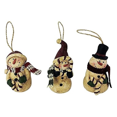 Craft Outlet 3 Piece Snowman Orn Set
