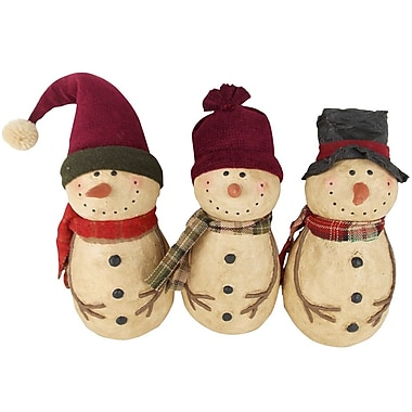 Craft Outlet 3 Piece Set Snowman