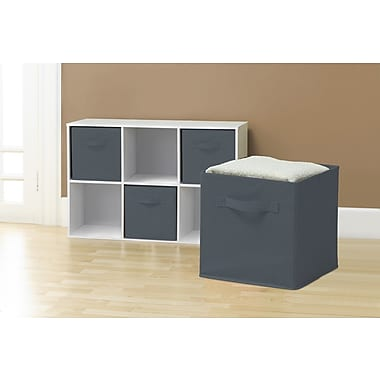 Sivan Collapsible Storage Cube (Set of 6); Gray