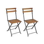 Furniture Designhouse French Bistro European Caf  Folding Patio Dining Chair (Set of 2)