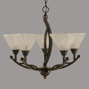Toltec Lighting Bow 5-Light Shaded Chandelier; 20.25'' H x 23'' W