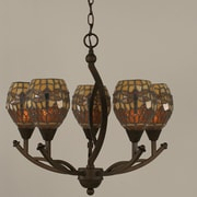 Toltec Lighting Bow 5-Light Shaded Chandelier