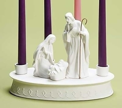 Roman, Inc. Holy Family Porcelain Advent Wreath Figurine