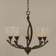 Toltec Lighting Bow 5-Light Shaded Chandelier