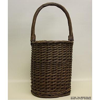 DestiDesign Tall Round Willow Basket
