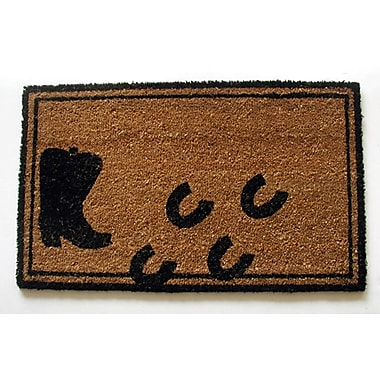 Geo Crafts Boot w/ Hoof Prints Doormat
