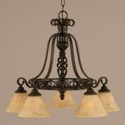 Toltec Lighting Elegante 5-Light Shaded Chandelier