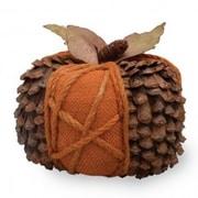 Boston International Burlap Cone Pumpkin Sculpture