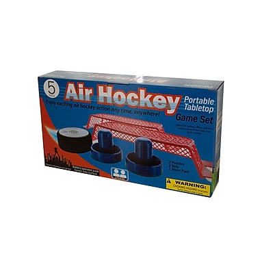 KoleImports Portable Battery Operated Tabletop Air Hockey Game Set