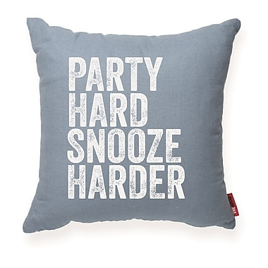 Posh365 Expressive ''Party Hard Snooze Harder'' Decorative Throw Pillow