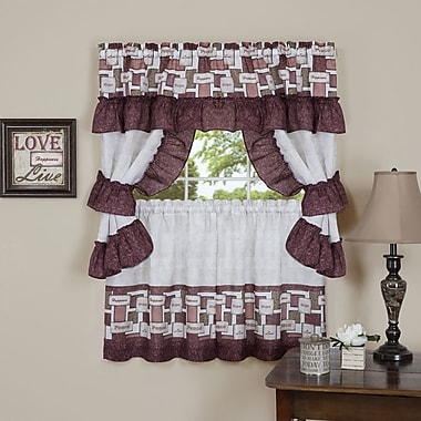 Achim Importing Co Inspiration Cottage Valance and Tier Set; 24'' H x 57'' W