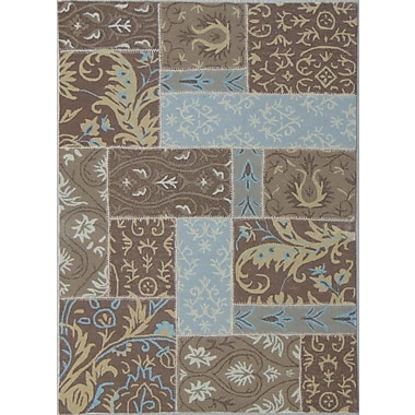American Cover Designs Patchwork Mid Brown Area Rug