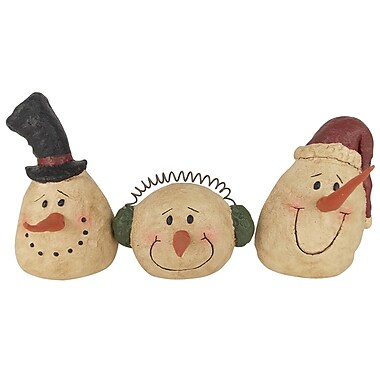 Craft Outlet 3 Piece Snowman Head Set