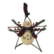 Craft Outlet Snowman W / Wicker Star Orn