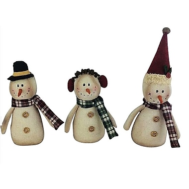 Craft Outlet 3 Piece Snowman Set