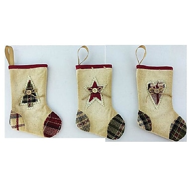 Craft Outlet 3 Piece Mini Stocking Set