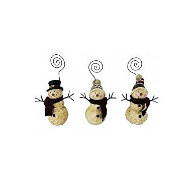 Craft Outlet 3 Piece Snowman Picture Holders Set