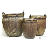 DestiDesign 3-Piece Wood Pot Planter Set