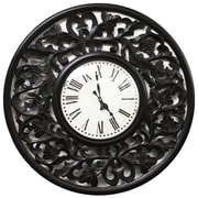 Fetco Home Decor Vella 24'' Wall Clock; Espresso