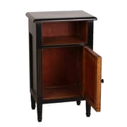 Antique Revival Zachary End Table; Black