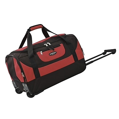 Travelers Club Adventure 20'' 2 Wheeled Carry-On Duffel; Red