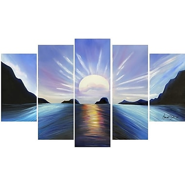 DesignArt Seascape 5 Piece Painting on Canvas Set