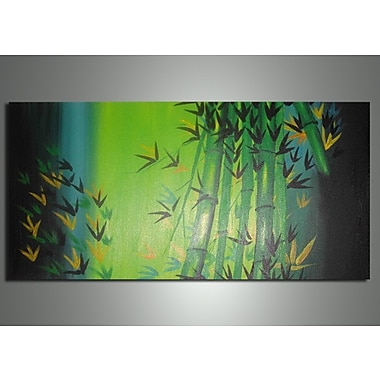 DesignArt Bamboo Abstract Painting on Canvas