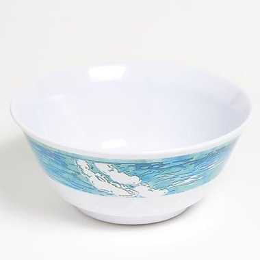 Galleyware Company Yacht and Home 20 oz. Mermaid Melamine Non-Skid Soup/Cereal Bowl (Set of 4)