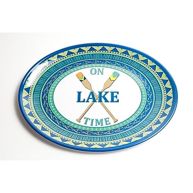 Galleyware Company Yacht and Home On Lake Time Melamine Oval Platter