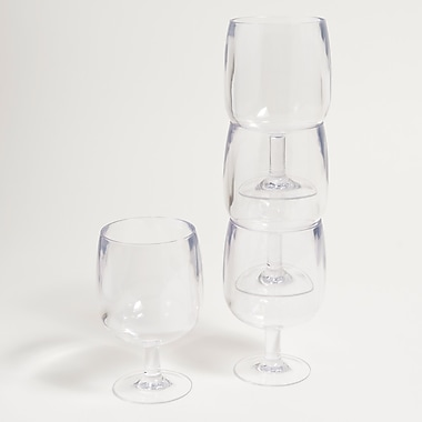 Galleyware Company Stacking Wine Glass (Set of 4); Clear