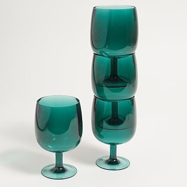 Galleyware Company Stacking Wine Glass (Set of 4); Green