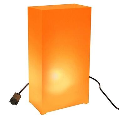 LumaBase Electric Luminaria Kit (Set of 10); Orange