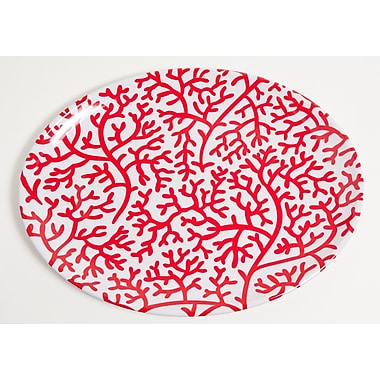Galleyware Company Yacht and Home Coral Melamine Oval Platter; Red