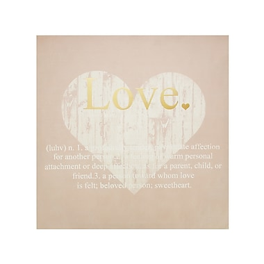 KoleImports Love Defined Wall Graphic Art on Canvas