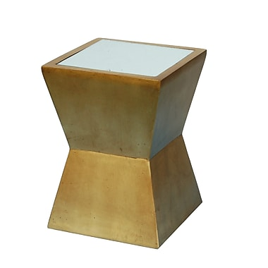 Hickory Manor House Alex End Table; Gold Leaf