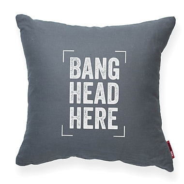 Posh365 Expressive ''Bang Head Here'' Decorative Throw Pillow