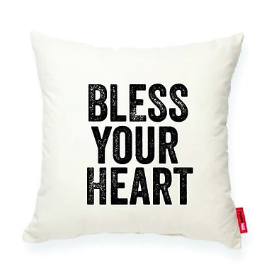 Posh365 Expressive ''Bless Your Heart'' Decorative Cotton Throw Pillow
