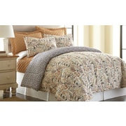 Amrapur Mavia 6 Piece Reversible Comforter Set; Queen
