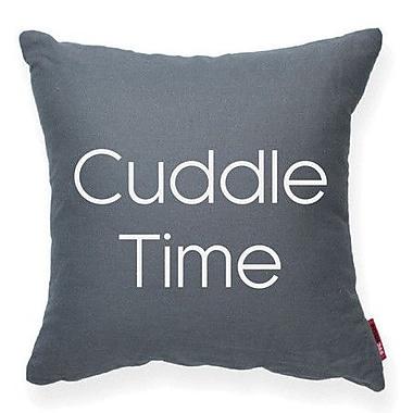 Posh365 Expressive ''Cuddle Time'' Decorative Throw Pillow; Gray